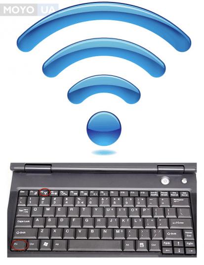 включаем вай-фай клавиатурой